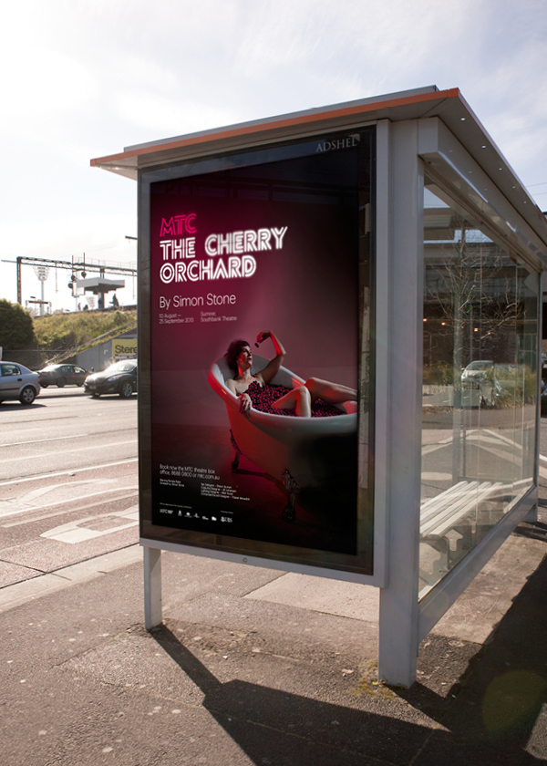Outdoor advertising developed by Interbrand under the theme of 'new light' for Melbourne Theatre Company
