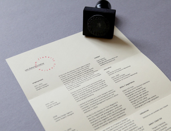 Logo and headed paper with stamp detail designed by Sydney based freelance graphic designer and art director Sam Flaherty