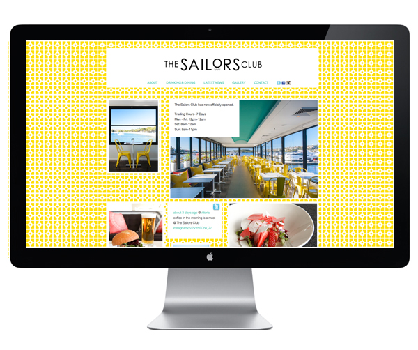 Logo and website designed by Folke for Rose Bay restaurant The Sailors Club.