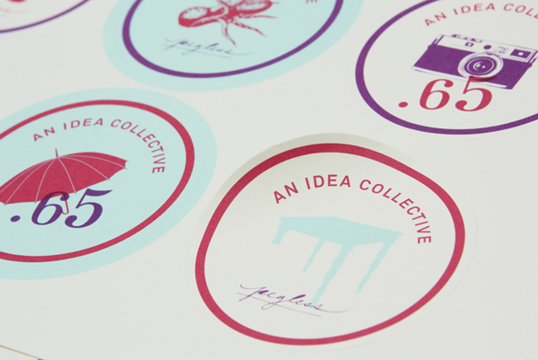 Stickers with illustrative detail designed by Blok for Toronto based advertising agency We Are Tonic