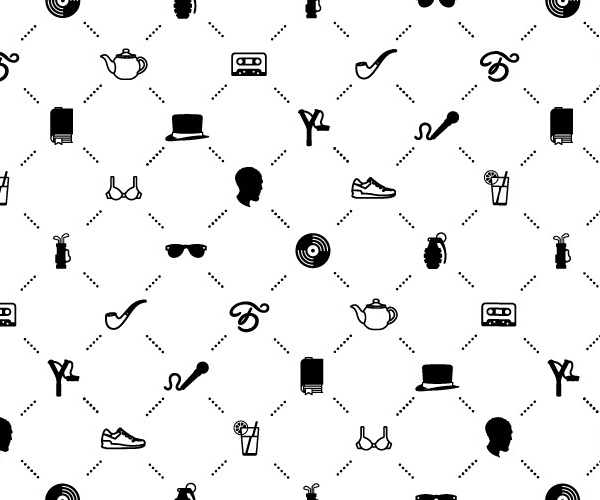Pattern and iconography designed by The Bakery for Moscow-based musician Batishta