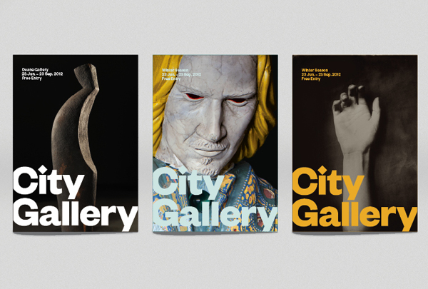 Logo and poster series for non-collecting exhibition-based public gallery City Gallery by Designworks
