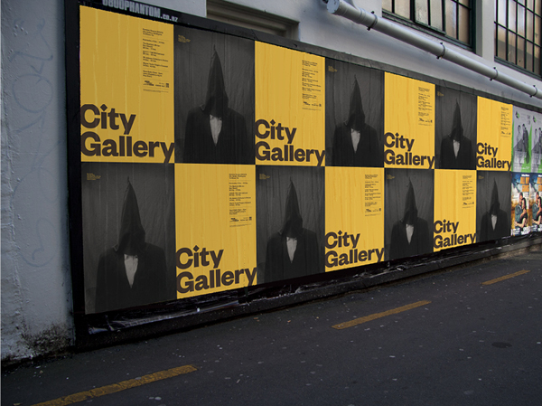 Logo and outdoor poster series for non-collecting exhibition-based public gallery City Gallery by Designworks