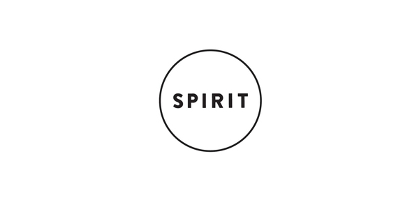 Logo for vegetarian restaurant Spirit designed by Studio Beige