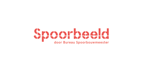 Logo built form modular components for Dutch Railway's design infrastructure guide Spoorbeld created by Lava