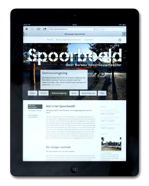 Dutch Railway's on-line design infrastructure guide Spoorbeld created by Lava