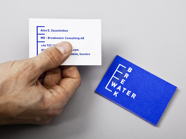 Breakwater - Logo and business card designed by Lundgren + Lindqvist