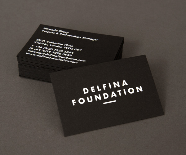 Delfina Foundation - Logo, stationery and website designed by Spin