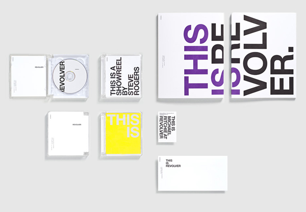 Logo, stationery and DVD packaging for film production company Revolver designed by Toko