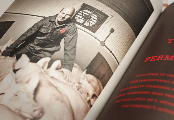 Brochure for Canadian pork producer and family run butcher F. Ménard designed by lg2boutique