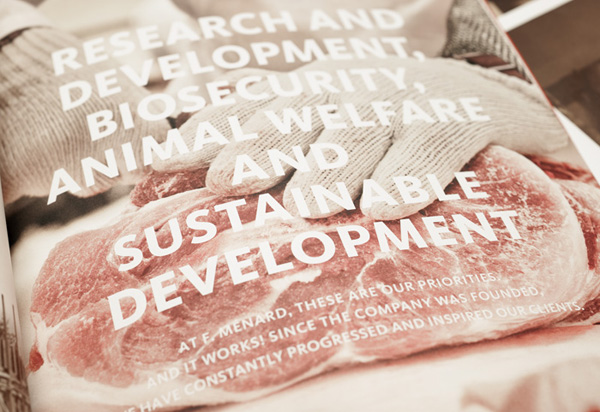 Photography and typography for Canadian pork producer and family run butcher F. Ménard by lg2boutique