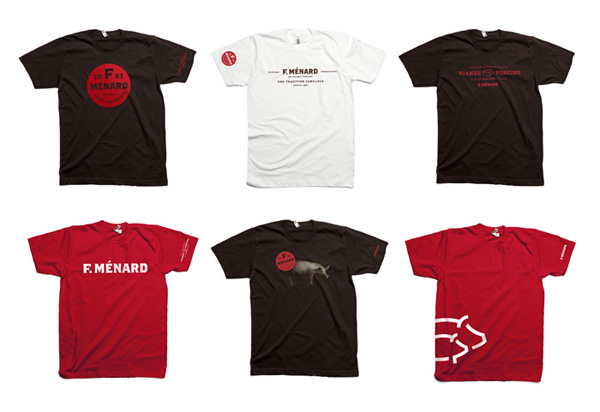 T-shirts for Canadian pork producer and family run butcher F. Ménard designed by lg2boutique