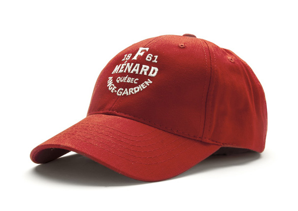 Hat with stitched logo detail for Canadian pork producer and family run butcher F. Ménard designed by lg2boutique