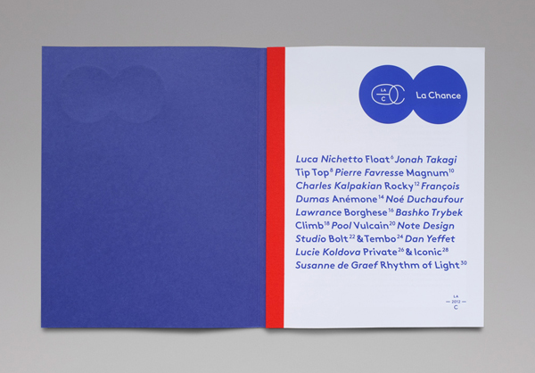 Logo and catalogue for furniture and lighting company La Chance designed by Artworklove