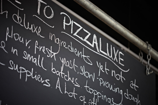 Pizza Luxe chalkboards