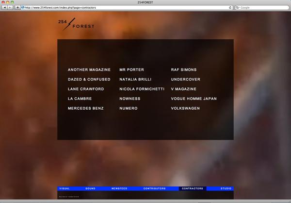 Logo and website for creative studio 254 Forest designed by Codefrisko