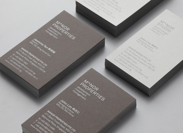 New brand identity for manor studio by manic bpo logo and business card for singapore based architectural and spatial design practice manor studio created colourmoves