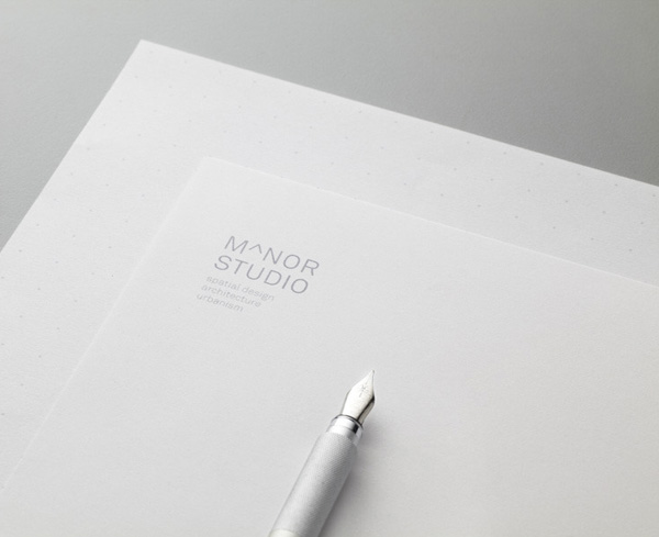 Logo and stationery for Singapore-based architectural and spatial design practice Manor Studio created by Manic