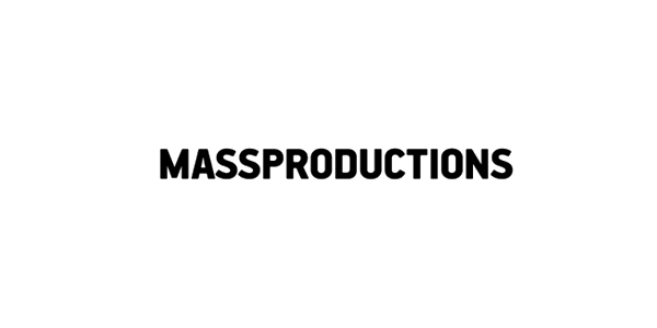 Logo for Stockholm-based furniture company Massproductions designed by Britton Britton