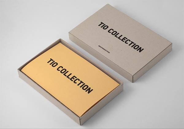 Sample box for furniture company Massproductions designed by Britton Britton