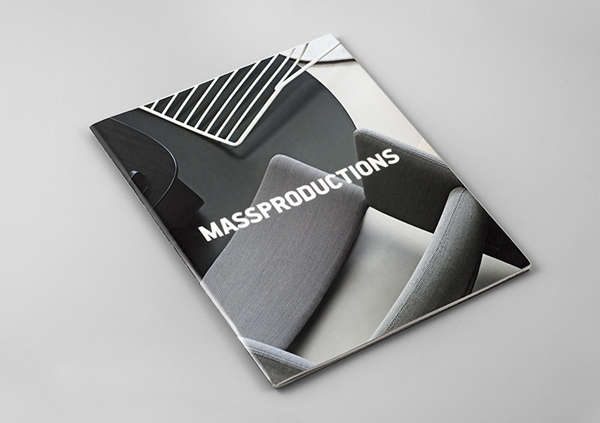 Logo and brochure design for furniture company Massproductions created by Britton Britton
