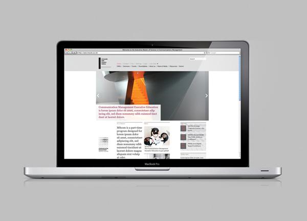 Website design for EMSCom by Moving Brands