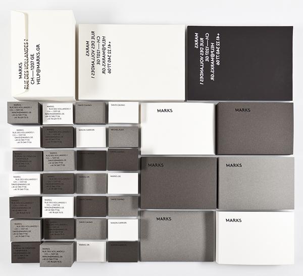 Logo and stationery designed by multidisciplinary design studio Marks