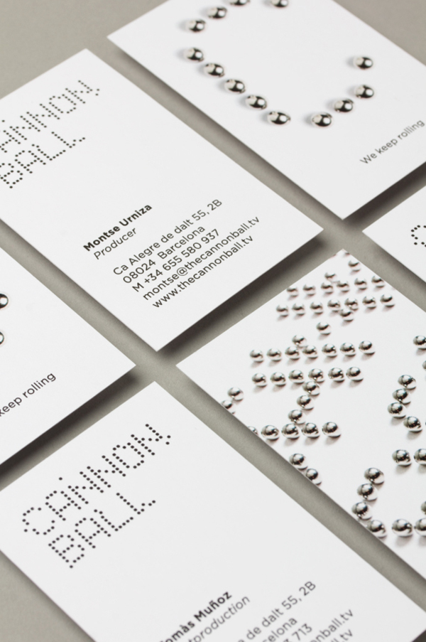 Logo and business card design for production studio The Cannonball by Lo Siento