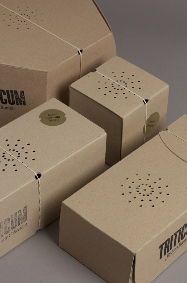 Bakery packaging for Triticum designed by Lo Siento