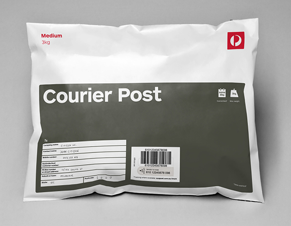Packaging designed by Interbrand for Australia Post