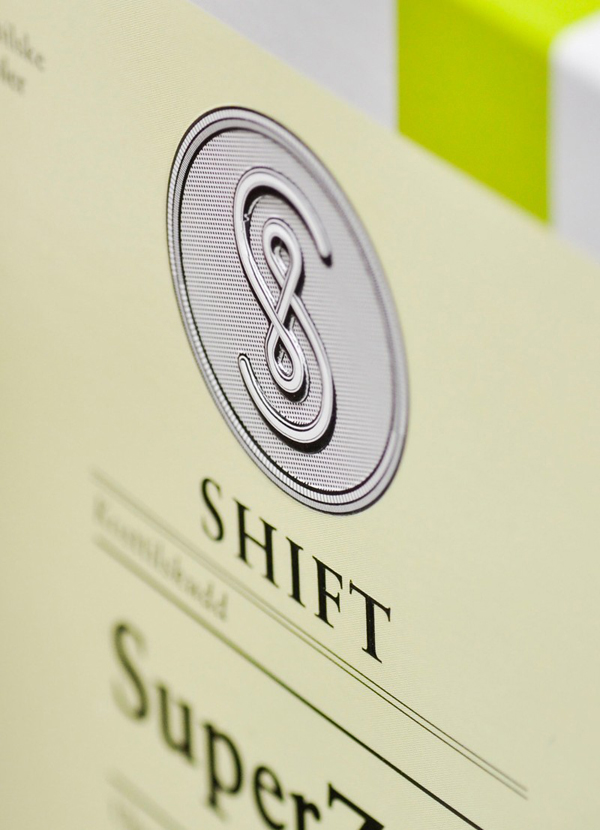 Packaging design with emboss detail by Ghost for supplement Vitalkost Shift