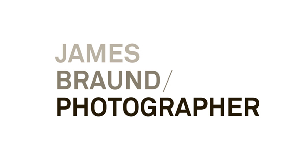 Sans-serif logotype designed by Hofstede for photographer James Braund
