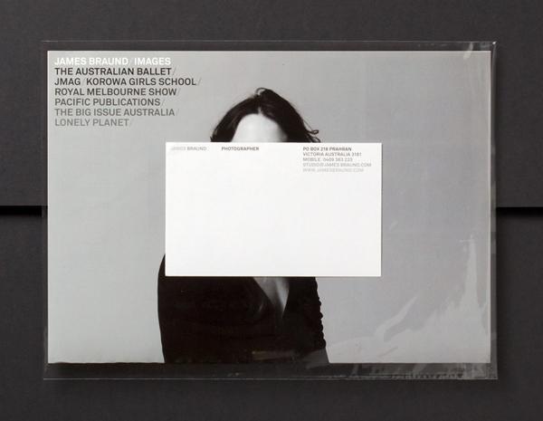 Postal sticker detail designed by Hofstede for photographer James Braund