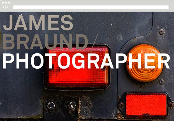 Website designed by Hofstede for photographer James Braund