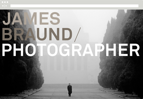 Website designed by Hofstede for photographer James Braund