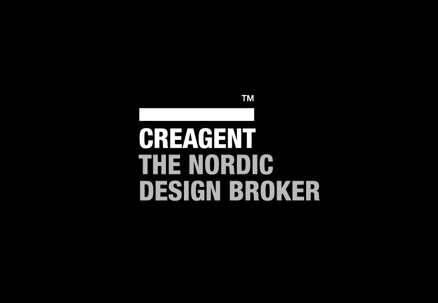 Logo designed by Bond for nordic design broker Creagent