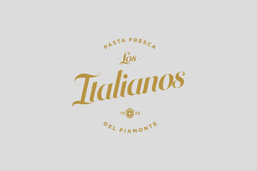 Logo designed by Huaman for Barcelona based traditional Italian food producer and retailer Los Italianos