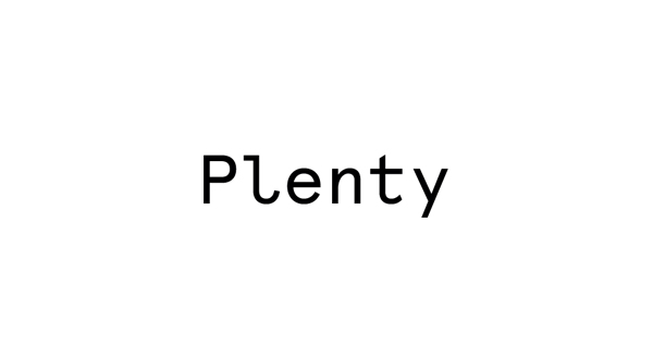 Logo designed by Ah Studio for London-based web development studio Plenty