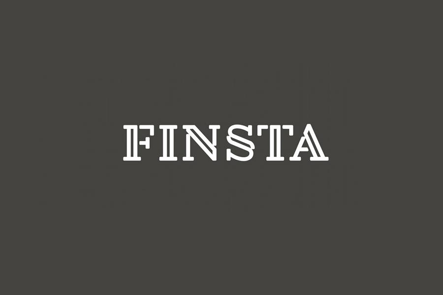 Logotype designed by Werklig for Finish law firm Finsta