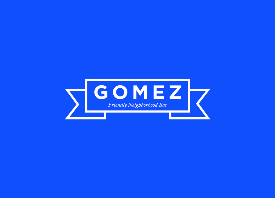 Logo design by Savvy for neighbourhood bar Gomez