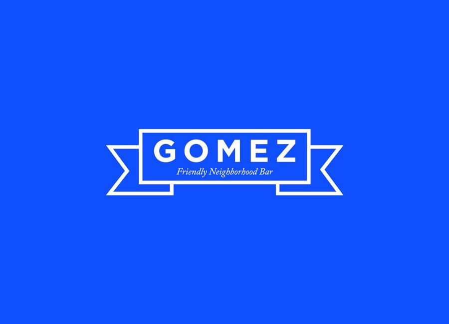 Logo design by Savvy for neighbourhood bar Gomez