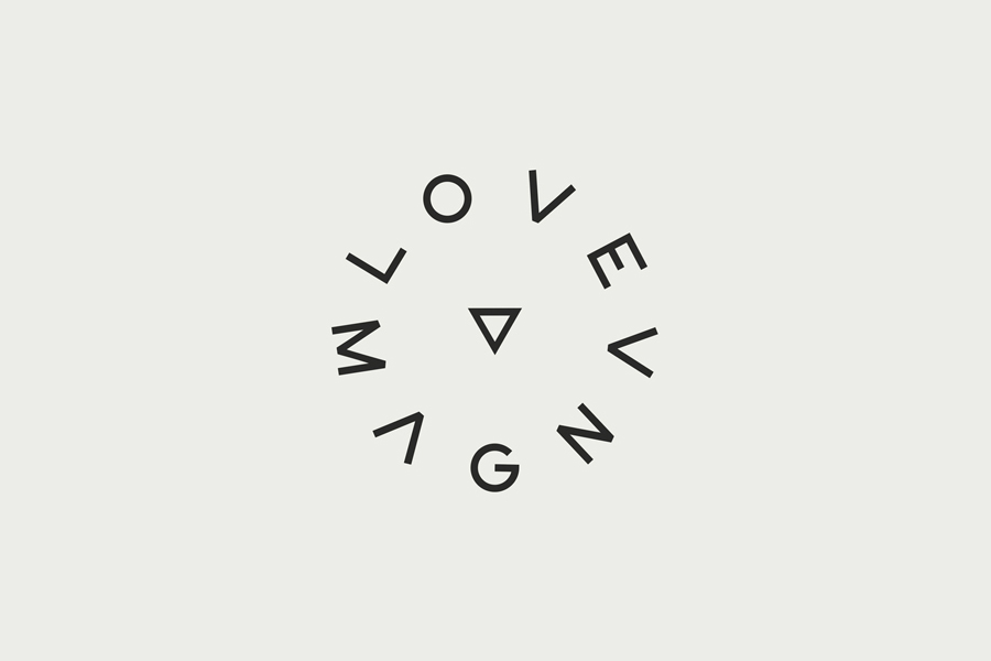 Logo for production studio Love Magna designed by Musa WorkLabs