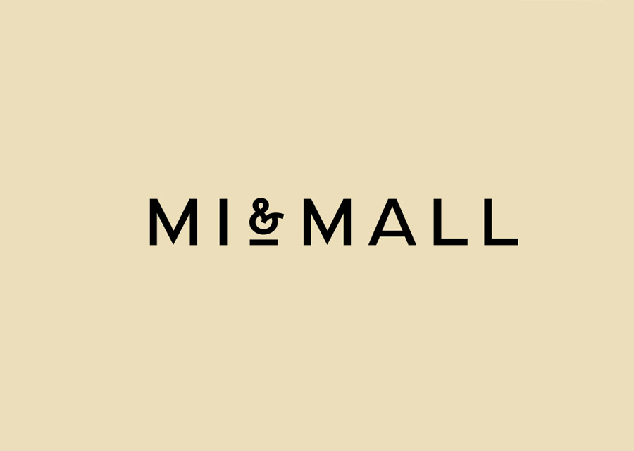 Sans-serif logotype designed by Atipo for online fashion retailer Mi&Mall