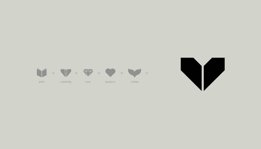 Logo design by Atipo for Spanish print production studio Minke