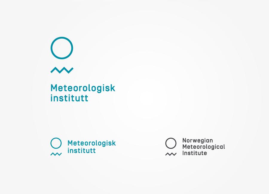 Logo designed by Neue for the Norwegian Meteorological Institute - Meteorologisk Institutt