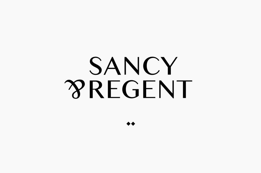 Logo design for boutique jewellery retailer Sancy & Regent designed by OK-RM