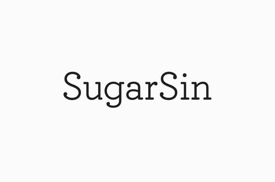 Logotype designed by &Smith for confectionery shop SugarSin