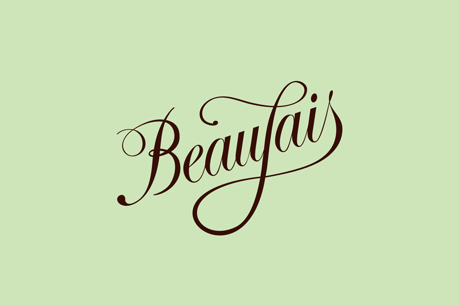Logo designed by Parent for luxury lingerie brand Beaujais