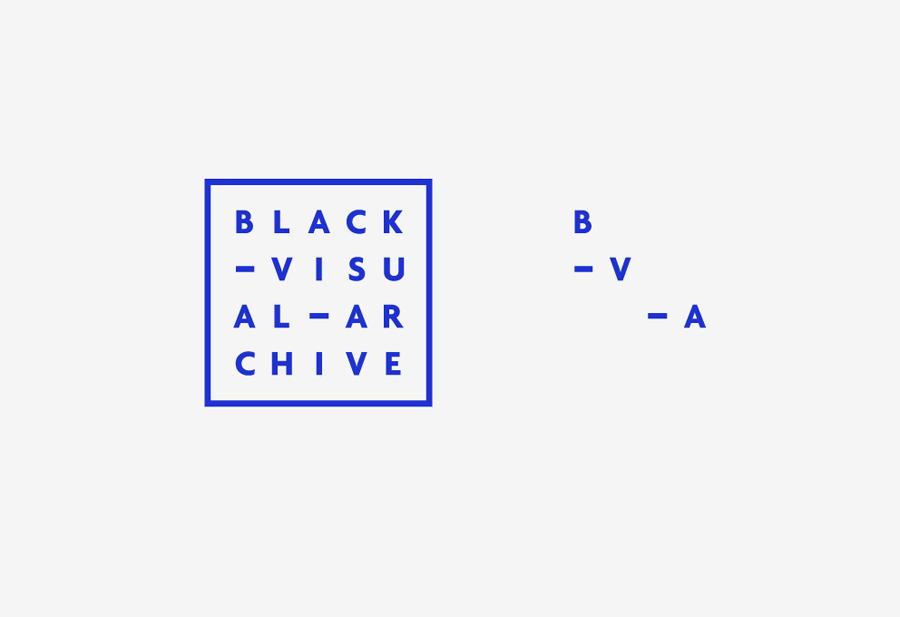 Logo by Fivethousand Fingers for Black Visual Archive, an on-line collection of critical texts on African American artists
