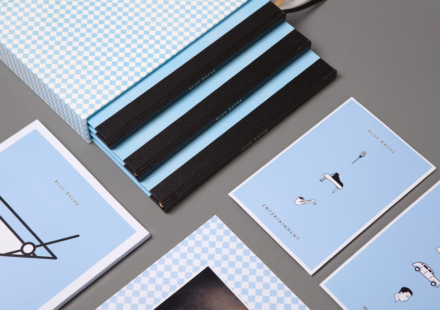 Print and iconography designed by Ryan Romanes for Blue Baths